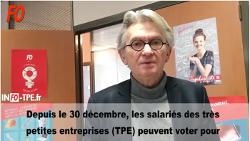 TPE – Jean-Claude Mailly s'adresse aux salariés des TPE en vidéo