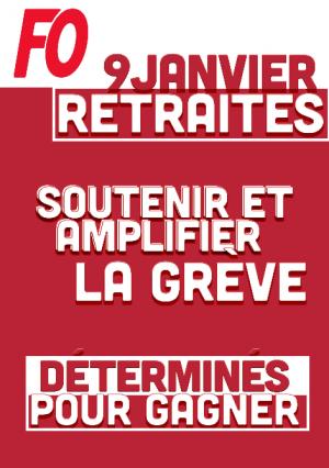 RETRAITES – Manifestation du 9 janvier 2020