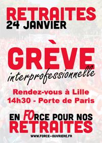 Retraites : Manifestation – Vendredi 24 janvier 2020
